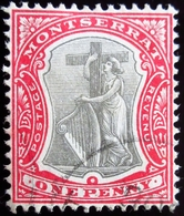 1903 Montserrat Mi 12 . Symbol Of The Colony. Oblitéré - Montserrat