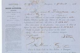 506/28 - CHARBONNAGES - Lettre TP 18 Losange De Points 290 (LUXE) PATURAGES 1866 Vers LIERRE - 1865-1866 Profile Left