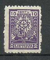 LITAUEN Lithuania 1923 Michel 187 * - Lituanie