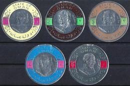 Oman 1970 - Charles De Gaulle - Timbres Ronds, En Argent - MH* - Oman