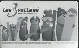 """Forfait De Ski """"Les 3 Vallées"""" - Titres De Transport"""