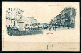 CARTOLINA CV2464 BARI (BA) Corso Vittorio Emanuele, Formato Piccolo, Viaggiata 1899, Francobollo Asportato, Ottime Condi - Bari