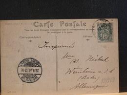 82/869  CP POUR ALLEMAGNE 1907 - 1900-29 Blanc