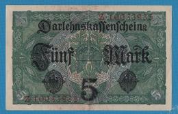 DEUTSCHES REICH 5 Mark  01.08.1917Serie# Z.10033935  KM# 56b - [ 2] 1871-1918 : Empire Allemand