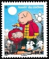 Timbre-poste Gommé Neuf** - Nouvel An Chinois Année Du Cochon - Petit Timbre Montagne - France 2019 - France