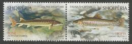 AL 2018-08 FAUNA FISH, ALBANIA, 1 X 2v, MNH - Albanien