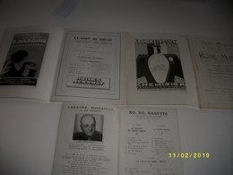 7 Vieux Programmes De Théâtre Et 2 Livrets - Théatre & Déguisements