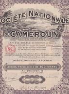 Th7NATIONALE Du CAMEROUN : Action P. De 100 Frs1924N° 13 - Autres