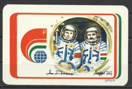 Hungary, Astronauts Vladimir Dzhanibekov And Magyari Béla, 1980. - Calendriers