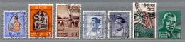 Sri Lanka (Ceylon), MiNr. 301, 309, 310, 324, 326, 329, 372 Gestempelt; A-2635 - Sri Lanka (Ceylon) (1948-...)