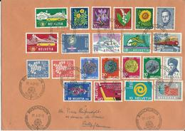 314,315, 375-380, 385-388,WI 188- 192, WII 108-112, Obl. Rüschlikon 29.6.62 - Suisse