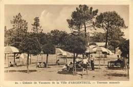 VENDEE   SAINT HILAIRE DE RIEZ  Colonie De Vacances  De La Ville D'ARGENTEUIL  Travaux Manuels - Autres Communes