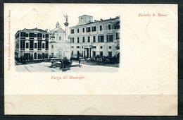 CARTOLINA CV2449 MASSA (MS) Piazza Del Municipio, Formato Piccolo, Viaggiata 1899, Francobollo Asportato, Ottime Condizi - Massa