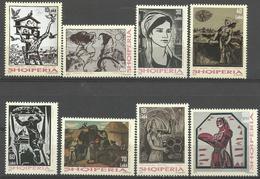 AL 2018-10 ART, ALBANIA, 1 X 8v, MNH - Albanien