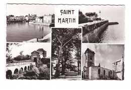 17 Ile De Ré Souvenir De Saint Martin Carte 5 Vues Port Eglise Phare CPSM PF Edit Estel N°77695 - Ile De Ré