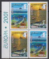 Europa Cept 2001 Azerbaijan 2x2v Booklet Pane  ** Mnh (41831) - 2001