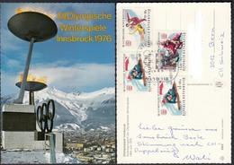 Ansichtskarte XII. Olympische Winterspiele Innsbruck 1976 Mit Sonderstempel - Ansichtskarten