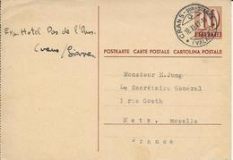 154, Entier Postal 10 Cts, Obl. Crans-sur-Sierre 18.XI.47 - Entiers Postaux
