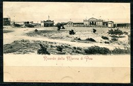 CARTOLINA CV2448 PISA (PI) Veduta Della Marina, Formato Piccolo, Viaggiata 1899, Francobollo Asportato, Ottime Condizion - Pisa