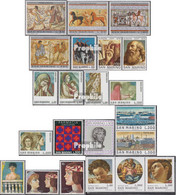 San Marino 1083-1104 (kompl.Ausg.) Jahrgang 1975 Komplett Postfrisch 1975 Etruskische Malerei, Weihnachten U. - San Marino