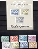 Serie Nº 139/46 + Hb-2  Maldives Island - Maldivas (1965-...)