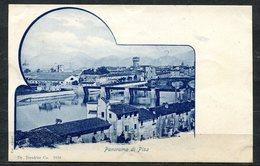 CARTOLINA CV2456 PISA (PI) Panorama, Formato Piccolo, Viaggiata 1899, Francobollo Asportato, Ottime Condizioni - Pisa