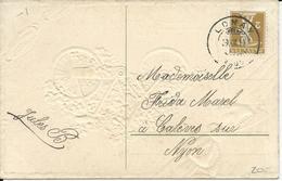 123 II, Fils De Tell Sur Carte De Voeux, Obl. Lonay - Suisse