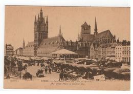 Ieper YPRES  - La Grand'Place Un Jour De Marché Photo ANTONY,Ypres 150711-1  IMP.PHOT.NEURDEIN ET CIE - Ieper