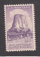 USA, MNH, Montagne, Mountain, Devils Tower, Tour Du Diable, Géologie, Geology, Nuage, Cloud - Géologie