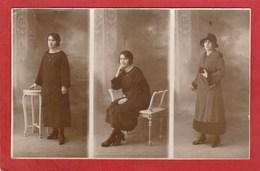 CPA: Carte-Photo - Photo Montage - Femme (Rex-Photo à Auxerre) - Photographie