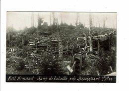 Cpa Carte Photo Champ De Bataille VIEIL ARMAND Près BISCHOFSHUT Hartmannsweilerkopf  SB S 89 - Oorlog 1914-18