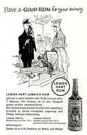 Original-Werbung/ Anzeige 1958 - LEMON HART JAMAICA RUM (CARTOON ZOLL) / EPIKUR - KOBLENZ - Ca. 80 X 130 Mm - Publicités