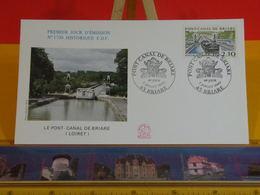 Le Pont Canal De Briare (Loiret) - 45 Briare - 7.7.1990 FDC 1er Jour N°1700 - Coté 2,20€ - FDC