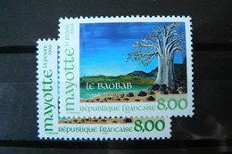 Mayotte - Yvert N° 75 X2 Neufs ** (MNH) - Variété De La Couleur Verte - Mayotte (1892-2011)