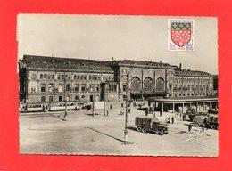 CPSM Dentelée - STRASBOURG (67) - Aspect De La Gare Et De La Place-Parking De La Gare En 1964 - Strasbourg