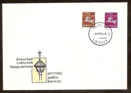 LITHUANIA / LITAUEN 1991 Definitive Horseman / Reiter FDC /Mi 480-81 - Lithuania
