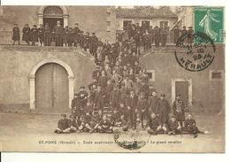 34 - SAINT PONS / ECOLE SUPERIEURE PROFESSIONNELLE - LE GRAND ESCALIER - Saint-Pons-de-Mauchiens