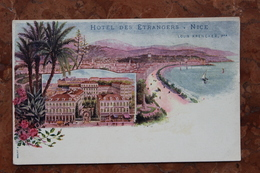 NICE (06) - HOTEL DES ETRANGERS - LOUIS KRENCKER, PROPRIETAIRE - Cafés, Hotels, Restaurants