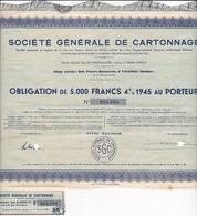 Th7CARTONNAGE : DROME : Obligation De 5000 Frs1945N° 18 - Actions & Titres