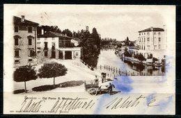CARTOLINA CV2426 TREVISO (TV) Veduta Dal Ponte S. Martino, Formato Piccolo, Viaggiata 1898, Francobollo Asportato, Macch - Treviso