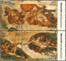 USED STAMPS India - The 500th Anniversary Of The Birth Of Michelangelo -  1975 - India
