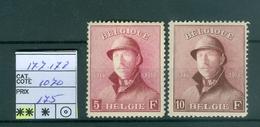 177 Et 178 Xx Côte 1070.00€ - 1919-1920 Behelmter König