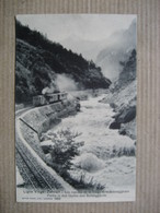 VIEGE-ZERMATT  - LE TRAIN DE LA LIGNE .....          TTB - VS Valais