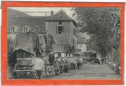 Cantal : Chaudesaigues, Arrivée De L'Autobus Au Garage Des Diligences, TOP CARTE, RARE... - France