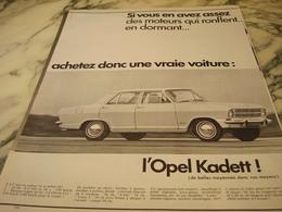 ANCIENNE AFFICHE PUBLICITE VOITURE OPEL KADETT 1966 - Voitures