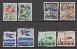 1958 ** Islande (sans Charn., MNH, Postfrish) Complete Yv 281/3-85-286/7-289-291  Mi 323/30  FA 357/64 (8v) - Komplette Jahrgänge