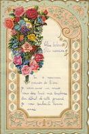 ENFANTINA Lettre Courrier D'enfant Avec Découpi Chromo Papier Gaufré à Système - Découpis