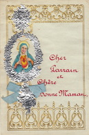 ENFANTINA Lettre Courrier D'enfant Avec Découpi Chromo Papier Gaufré Motif Religieux - Découpis