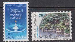 Europa Cept 2001 Andorra Fr & Sp 1+1v ** Mnh (41832P) - 2001