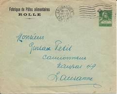PrU 36, Entier Postal 10 Cts Avec Raison Sociale, Obl. Lausanne 27.11.1923 - Entiers Postaux